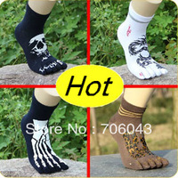 2014 Seconds Kill Limited Casual Free Shipping High Quality Five Fingers Socks Antibiotic Anti-odor Male Cotton Toe 12pair/lot