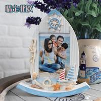 Free shipping Derlook sailing boat decoration photo frame shipform swing wooden photo frame
