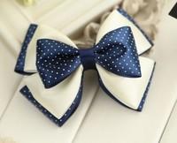 Free shipping~Fashion cute wave point bowknot hairpin hair accessories