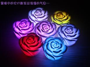 Colorful rose night light led wedding gift colorful rose i lantern electronic night light(China (Mainland))