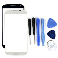 Wholesale White & Black Front Outer Lens Glass Screen For Samsung Galaxy S4 S IV SIV I9500 Replacement Tools Adhesive