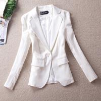 2013 spring slim white one button blazer spring outerwear ol female casual blazer