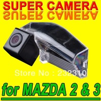 Hot car rear view back up parking camera for Mazda 2/3 from 2007~2009 waterproof high-solution NTSC PAL( Optional) for GPS Radio