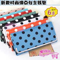 Fashion polka dot women's long design wallet bag new arrival women's wallet card holder