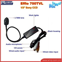 Mini bullet camera 1/3 Sony CCD Security camera 700TVL CCTV Pinhole Camera with audio