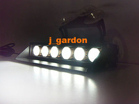 Police fire Warning light DC12V 6 LEDs 3W Emergency Windshield White Strobe Lightbar