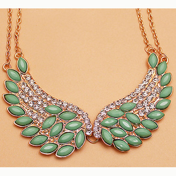 Korean Fashion Free Shipping Venus Angle Wings Female Drip Bead Necklace