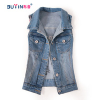 Big sale Autumn new arrival fashion street fashionable denim vest embroidered letter denim outerwear female jacket