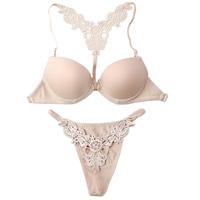 victoria Women sexy white bra front closure seamless push up 32a 34a 36a 32b 34b 36b bras bra and panty underwear set sets 2013