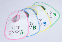 Free shipping!Wholesale Fashion baby Letter bibs New Born burp cloths 40 pieces mix colours