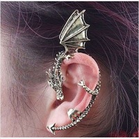 2014 New Fashion Super Cool Jewelry  Gothic Dragons Clip Earrings Women