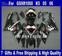 ABS Racing Fairings kit for 2005 2006 SUZUKI GSXR1000 GSX R1000 K5 05 06 GSXR 1000 R1000 newest gloss black Fairing bodywork mg4