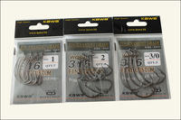 Kawa 316 crank hook for  soft baits hook  worm lure hook black fish hook