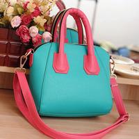 2013 summer bags candy color block smiley fashion female handbag cross-body bags women's bag