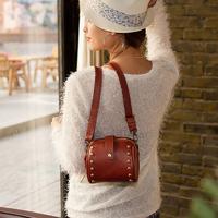 2013 shoulder bag small bag mini camera cosmetic bag vintage bag women's rivet handbag net