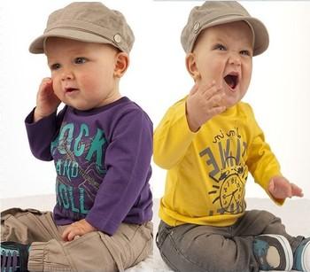 1PCS FREE SHIPPING!top quality!2013 clothing set children t-shirt+pants 2pcs/set boy soft cotton clothing sets in stock