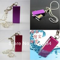 2 pieces/lot creative waterproof dustproof 16gb/32gb/64gb/128gb usb flash driver mini Memory Stick Flash Pen Drive