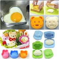 7 Pcs Japanese Mixed Cute Rice Cake Sushi Egg Mold  Mould  DIY cartoon egg sandwich Cutter  Sushi set
