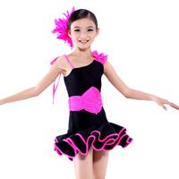 набор детей Латинской танца одежду Китайский танец купальник без рукавов танцы