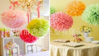 "Paper Pom Pom pompoms tissue paper . wedding decoratons - party poms, Size 12"" 25 Colors"