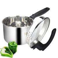 Milk pot filter belt 16cm double bottom soup pot stainless steel thickening electromagnetic furnace pot