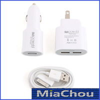2-in-1 UK Standard Travel Charger Car Charge for iPad iPhone Smart Phone