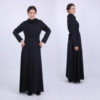 Wholesale Retail  women's heap turtleneck patchwork fashion one-piece dress  Islamic Clothing  -Free Shipping