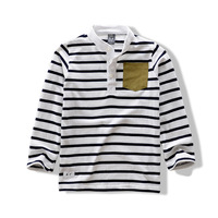 2013 children's autumn clothing child long-sleeve T-shirt male child 100% cotton stripe casual t-shirt half sleeve