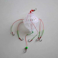 free shipping Independent packaging excellent spirally-wound silver play device nest hook lure fish