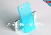 For iPhone 5 5s Case Dull Polish Ultra-thin 0.05mm Plastic Soft Back Cover Many Colors 20pcs Free Shipping