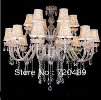 Modern luxury crystal transparent factory direct double living room dining luxurious atmosphere crystal lamp chandelier