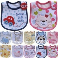 2013 Hot Sale Cotton Baby Bib Infant Bibs Saliva Towels Child Waterproof Cartoon Children Wear Different Model free shipping