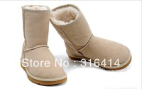 2013 Fashion winter boots warm flat heels solid snow boots women's boots 5 colors wholesale Hot selling