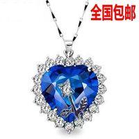 titanic Ocean Star Flower heart crystal rhinestone women's short  fashion design necklace/pendant