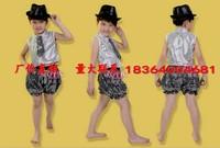 Child boy hip-hop paillette performance wear set boy dance clothes male costume