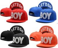 Harajuku board cap lets go boy snapback hiphop hip-hop skateboard baseball cap