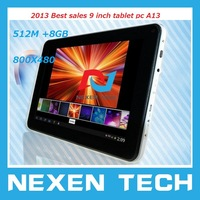 "9"" Android 4.0 Big Battery Dual Webcam 1.0GHz 512MB 8GB Wifi Webcam T12 Android 4.0 Tablet 9 inch Tablet PC"