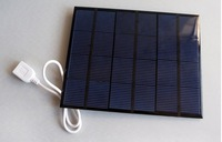 solar charger for mobile phone. video.6V  3.5W solar panel with USB connector. High efficiency. Free shipping