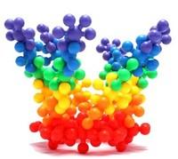 Building blocks plastic snowflakes educational toys child baby