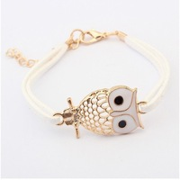 (Min order $10 mix)Korean fine hollow retro owl Bracelet+FREE SHIPPING#99043