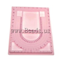 Free shipping!!!Bead Design Board,Jewelry Making, Plastic, Rectangle, with velveteen covered, pink, 235x320mm, 10PCs/Bag