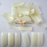 Free shipping Natural Color Square French Half Cover Nail Art Tips Nails Care Salon 500 pcs/bag Wholesale Retails