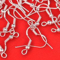 Free shipping Wholesale 400PCS Lot 18mm 925 Sterling Silver Earring Hooks Ball Jewelry Accessory Findings Ear Wire