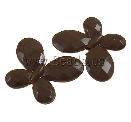 Free shipping!!!Solid Color Acrylic Beads,Wholesale 2013 Jewelry, Animal, brown, 30x23x4mm, Hole:Approx 1.9mm, 290PCs/Bag(China (Mainland))
