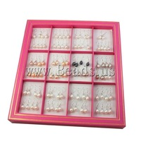 Free shipping!!!Freshwater Pearl Earrings,Hot Selling, Cultured Freshwater Pearl, mixed colors, 8-9mm, 28mm, 48Pairs/Box