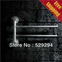 Free Shipping 2 belt rods roating towel bar/towel rack/ towel dryer Bathroom Accessories Space Alumina made Matte finish