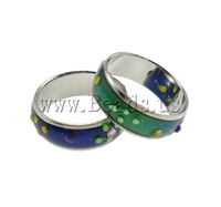 Free shipping!!!Enamel Mood Finger Ring,dream,bridesmaids jewelry, Brass, platinum color plated, mood enamel, nickel