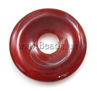 Free shipping!!!Red Agate Pendants,western, Donut, A, 35x35mm, Hole:Approx 9mm, 10PCs/Bag, Sold By Bag