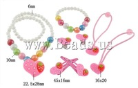Free shipping!!!Jewelry Sets,2013 designer brand women, Glass, bracelet & earring & necklace, with Resin, Heart, 6mm, 10mm
