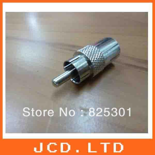 RCA Male Plug to TV Female Socket / AV M to TV F Adaptor / Connector Satellite TV(China (Mainland))